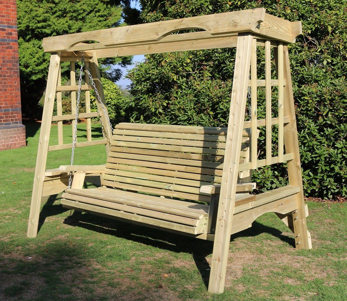 Most Recently Released 3 Seat Pergola Swings Regarding Churnet Valley Cottage 3 Seater Swing (View 7 of 25)