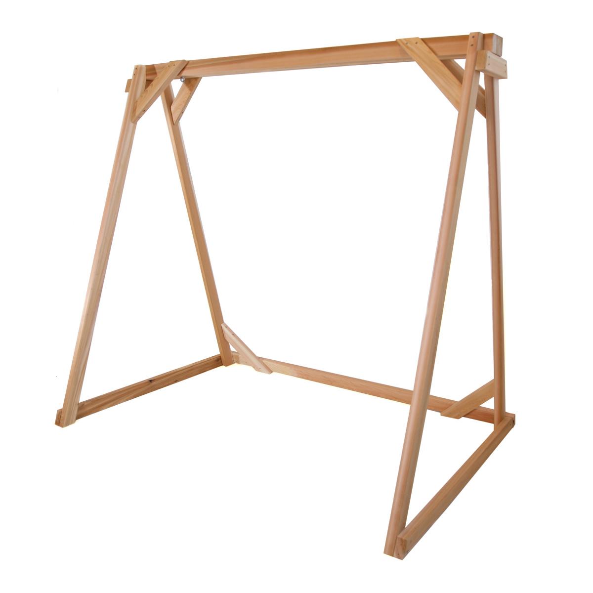 Most Recently Released 5 Ft Cedar Swings With Springs Regarding Cedar Garden A Frame Swing Setall Things Cedar (View 21 of 25)