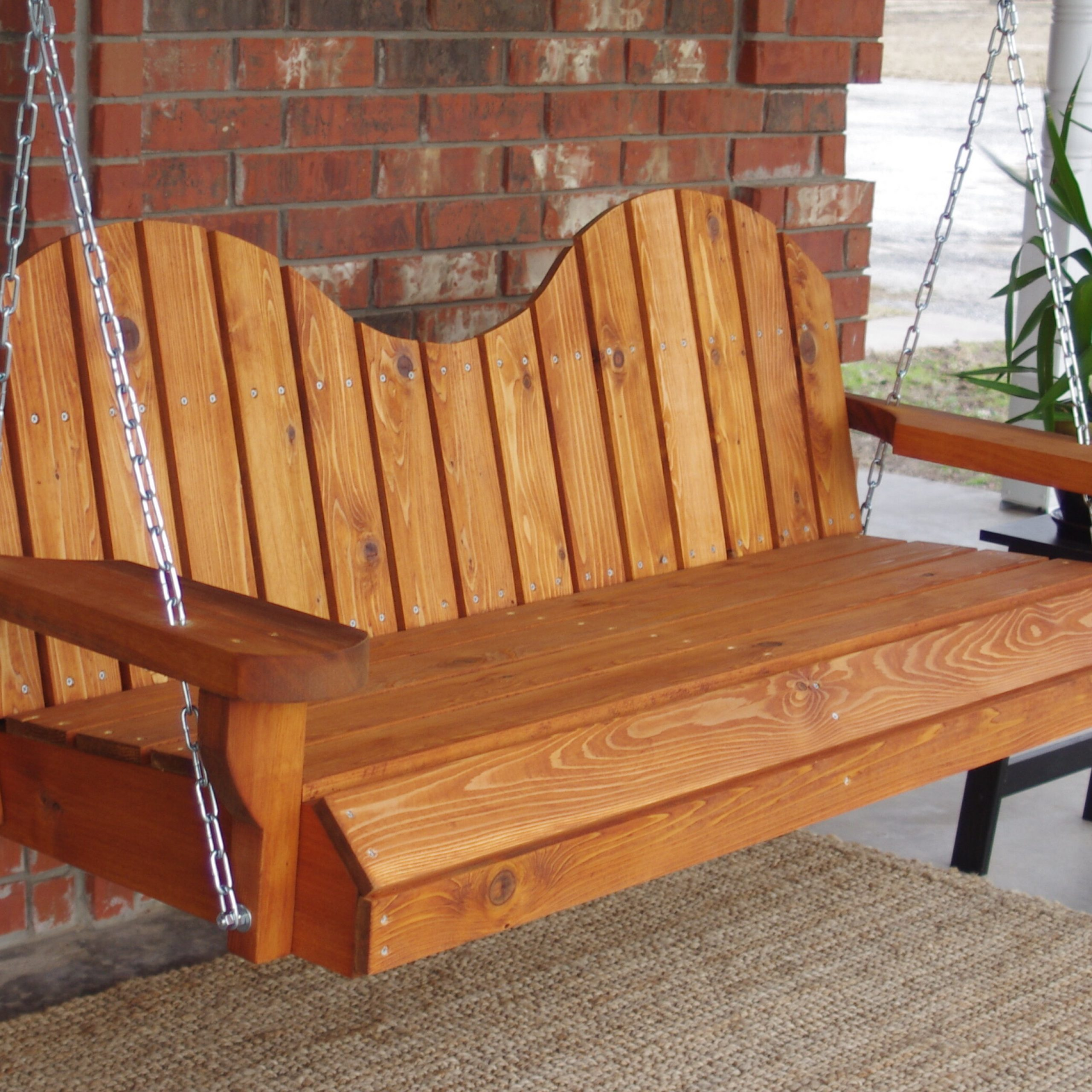 Most Recently Released 5 Ft Cedar Swings With Springs Regarding Frances Porch Swing (View 13 of 25)