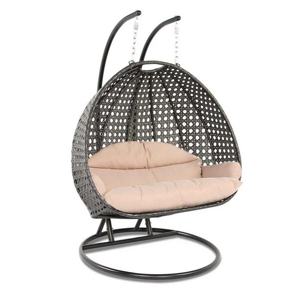 Most Recently Released Luxury Indoor Or Outdoor Swing Chair For Two Hanging With Standisland Gale Regarding 2 Person Antique Black Iron Outdoor Swings (View 21 of 25)