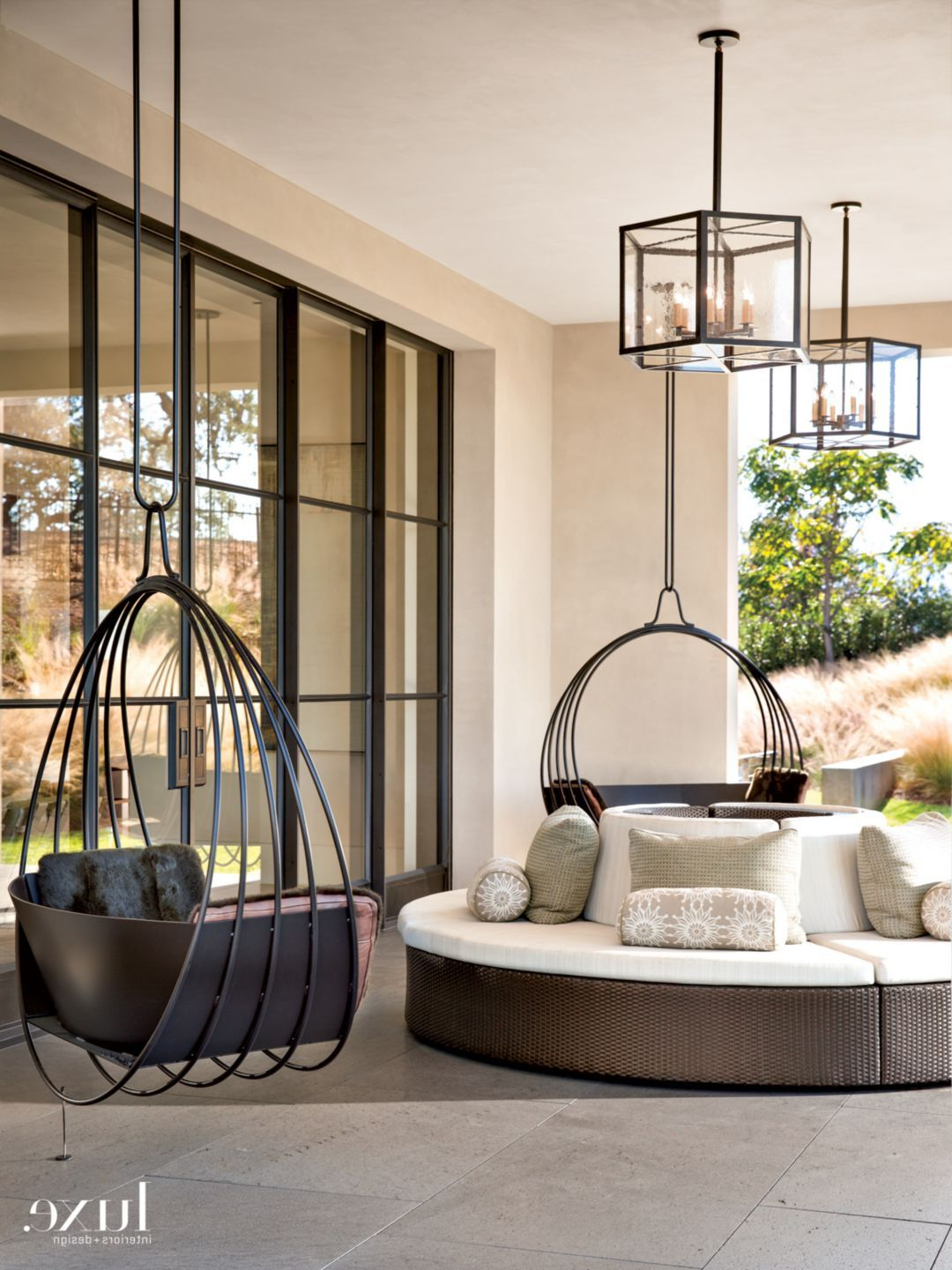 Most Recently Released Modern Outdoor Seating From Top Like Seats That Twirl Around With Lamp Outdoor Porch Swings (View 14 of 25)