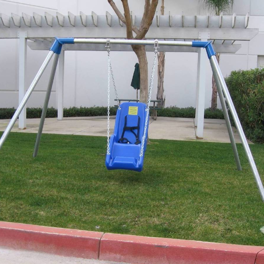 Newest Ada Indoor / Outdoor Metal Swing Frame – Single Swing Ready With Regard To Porch Swings With Stand (View 15 of 25)