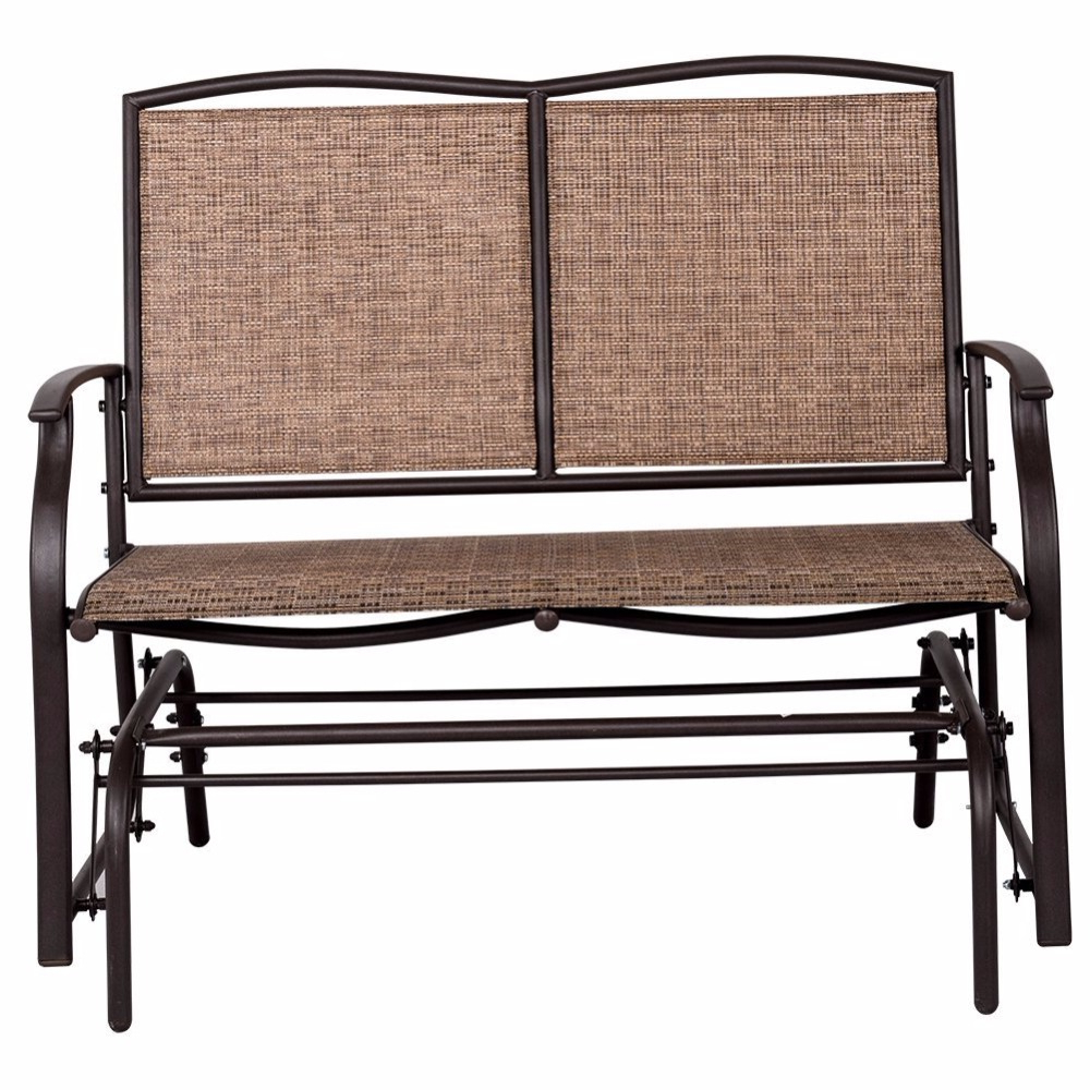 Newest Outdoor Steel Loveseat Double Swing Glider Rocking Chair – Buy Swing Glider Bench,glider Rocking Chair,double Swing Chair Product On Alibaba Throughout Outdoor Swing Glider Chairs With Powder Coated Steel Frame (View 24 of 25)