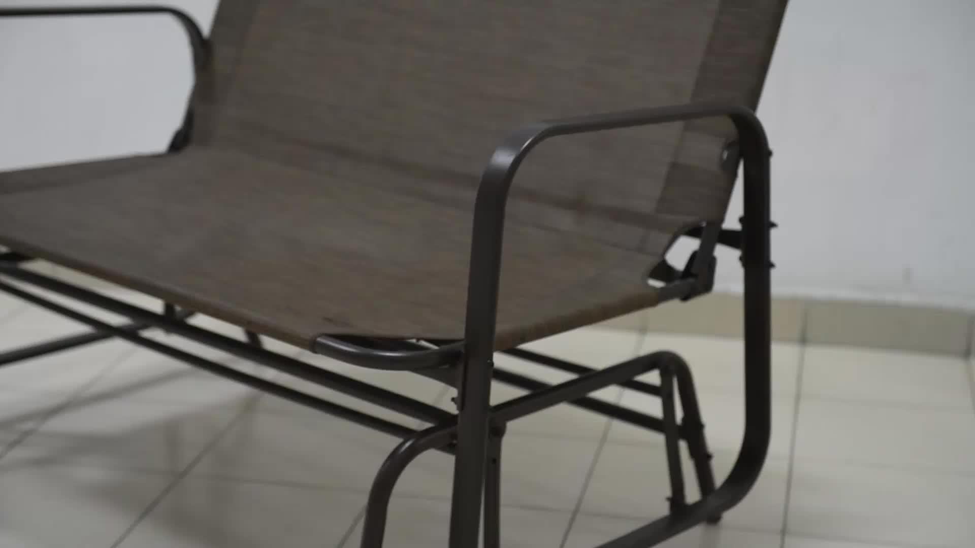 Outdoor Garden Steel Frame Patio Swing Glider Loveseat Bench Rocking Chair  – Buy Outdoor Garden Bench,metal Garden Bench,glider Rocking Chair Product With Regard To Most Recently Released Steel Patio Swing Glider Benches (View 14 of 25)