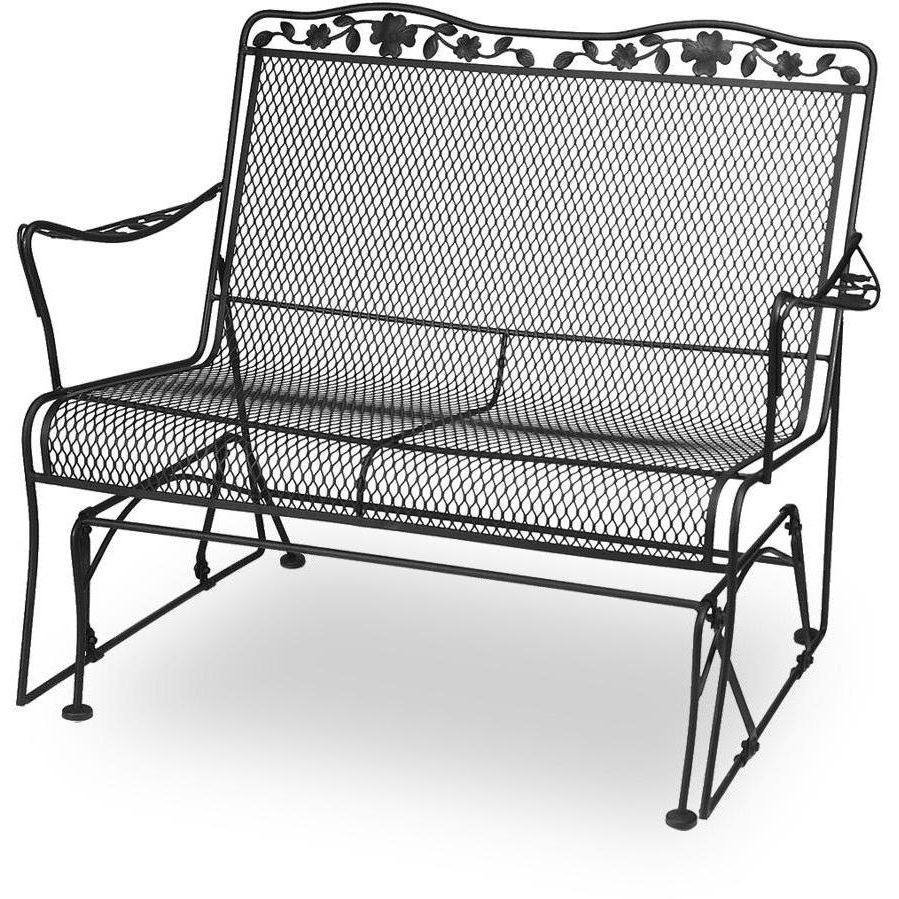 Outdoor Loveseat Gliders With Cushion Throughout Widely Used Metal Porch Glider With Cushions (Gallery 11 of 25)