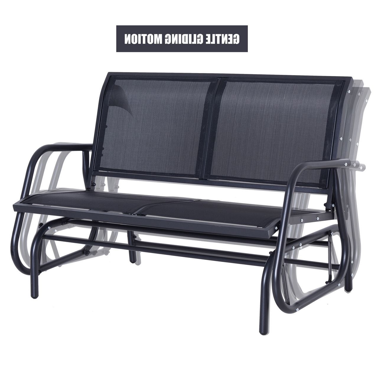 Outdoor Patio Swing Glider Bench Chair – Dark Gray Pertaining To Most Recently Released Outdoor Patio Swing Glider Bench Chairs (View 12 of 25)