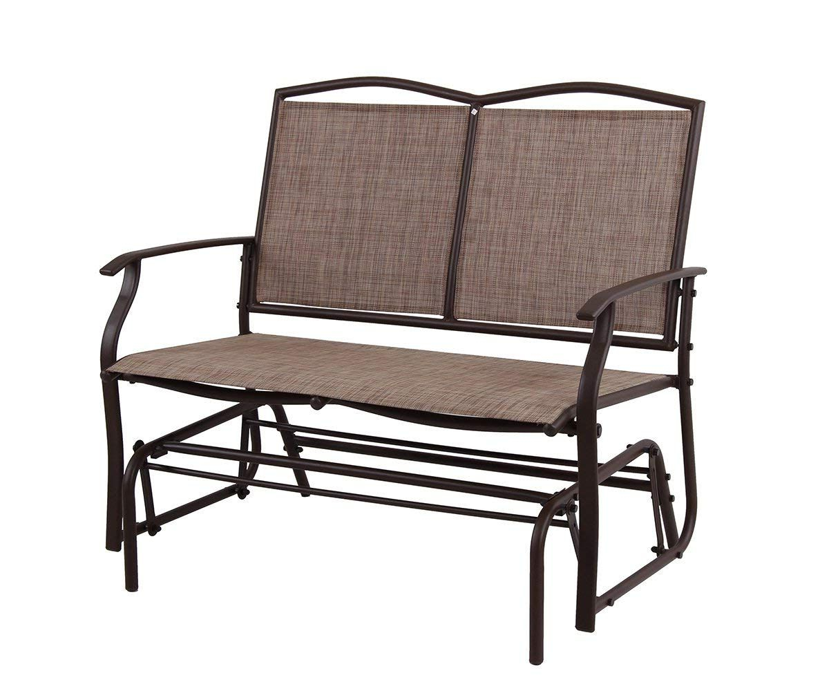 Outdoor Patio Swing Glider Bench Chair S Within Well Liked Patio Swing Glider Bench For 2 Persons Rocking Chair, Garden (View 7 of 25)
