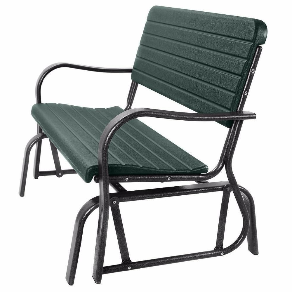 Outdoor Patio Swing Porch Rocker Glider Benches Loveseat Garden Seat Steel Intended For Best And Newest Patio Swing Outdoor Porch Rocker Glider Bench Loveseat (Gallery 4 of 25)