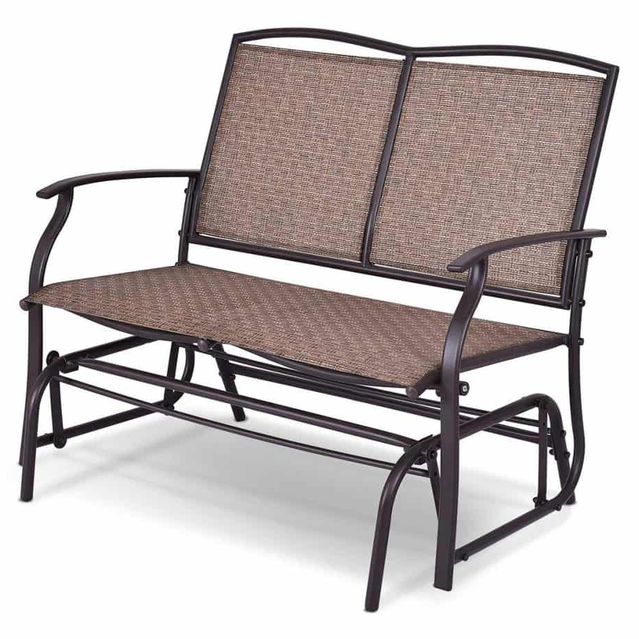 Outdoor Steel Patio Swing Glider Benches Intended For Trendy The 10 Best Patio Gliders (2020) (Gallery 12 of 25)