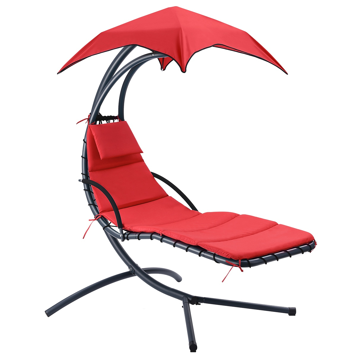 Outdoor Swing Glider Chairs With Powder Coated Steel Frame Intended For Favorite Hanging Chaise Lounge Chair Outdoor Indoor Hammock Chair (View 25 of 25)