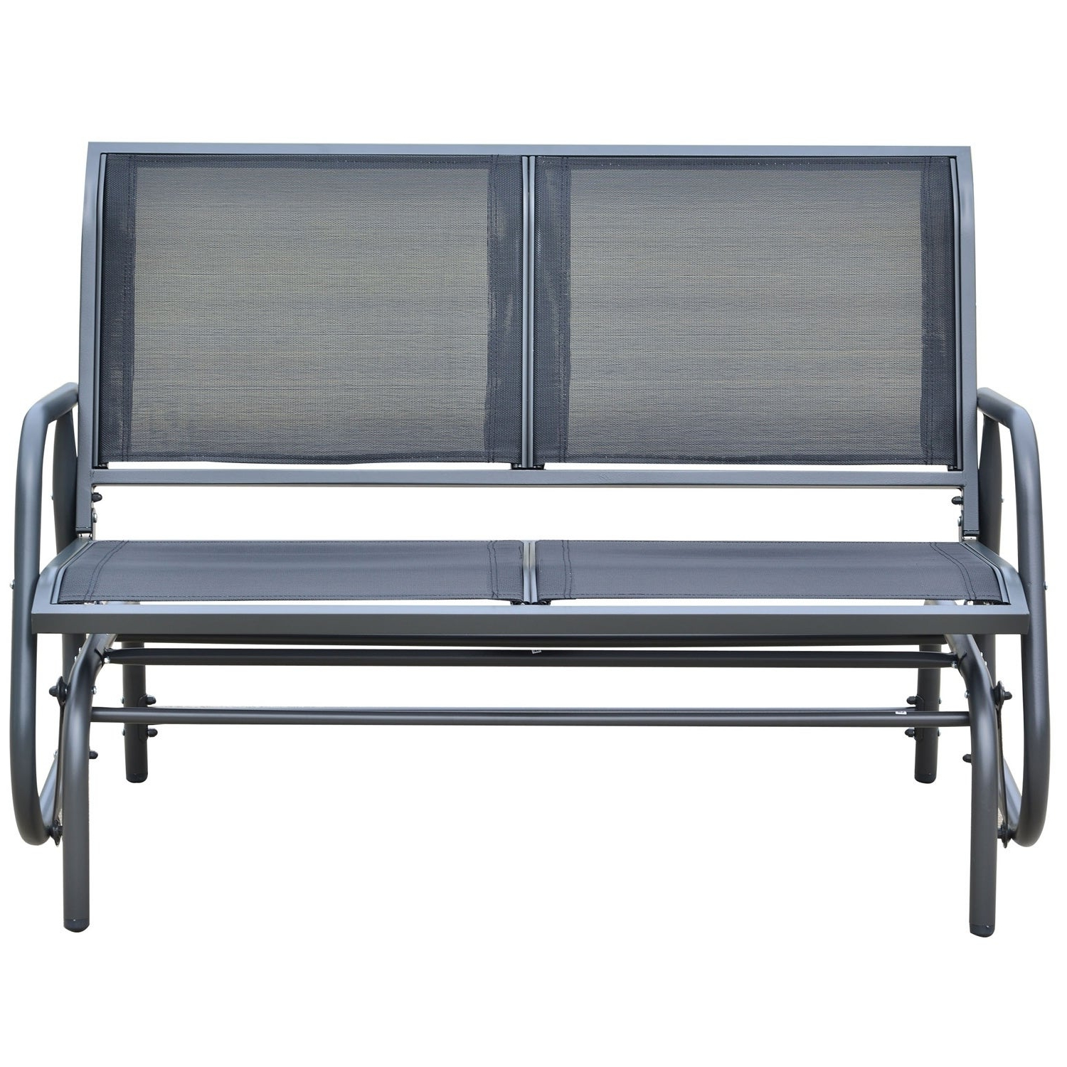 Featured Photo of Outdoor Patio Swing Glider Bench Chairs