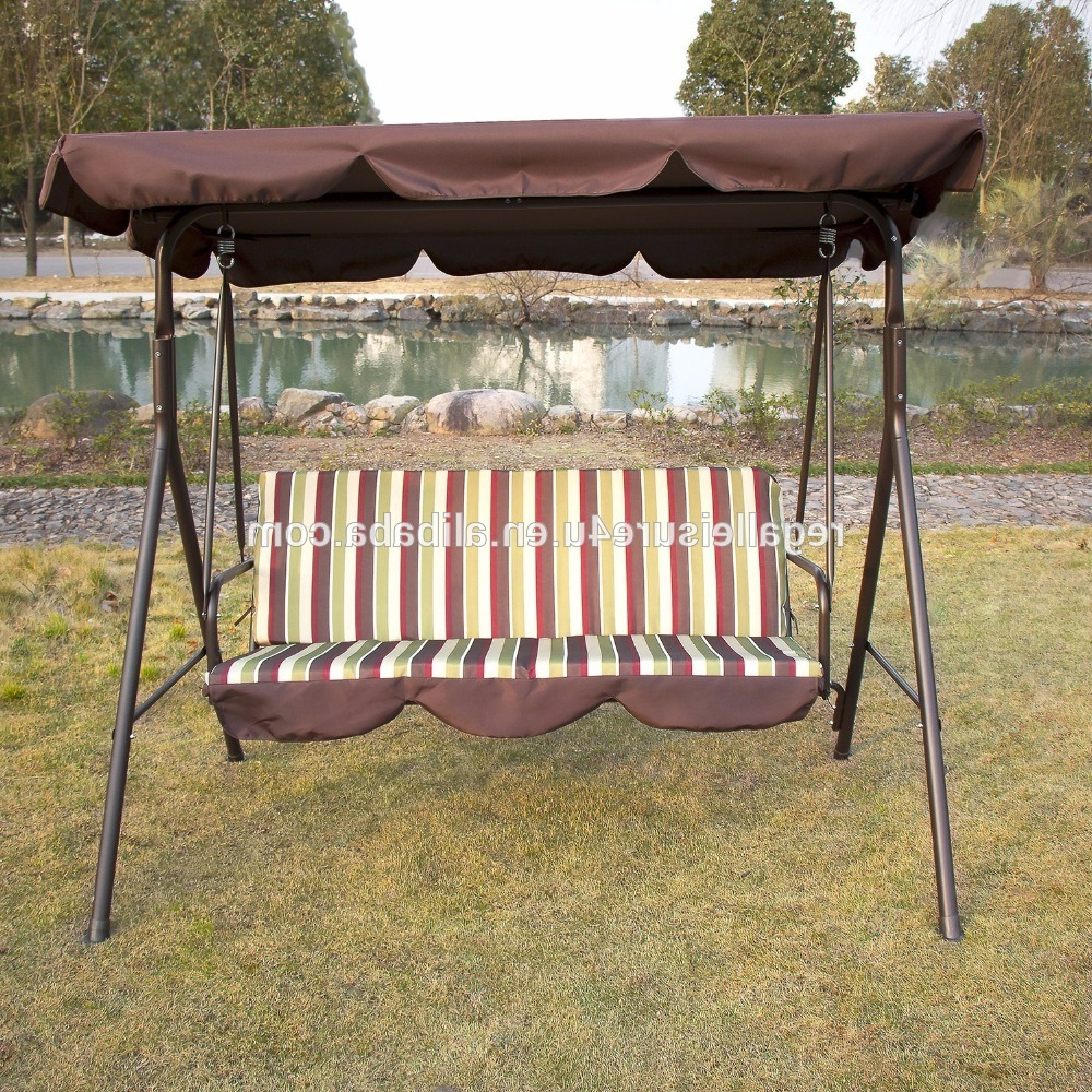 Patio Gazebo Porch Canopy Swings Pertaining To Newest Outdoor 3 Person Patio Cushioned Porch Swing Swg 000111 – Buy 3 Person Swing With Canopy,canopy Patio Swings,patio Swing With Canopy Product On (View 16 of 25)