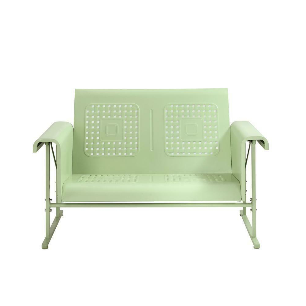 Patio Glider Chair Metal Frame Powder Coated Steel Durable Sturdy Heavy Duty Intended For Recent Outdoor Swing Glider Chairs With Powder Coated Steel Frame (View 7 of 25)