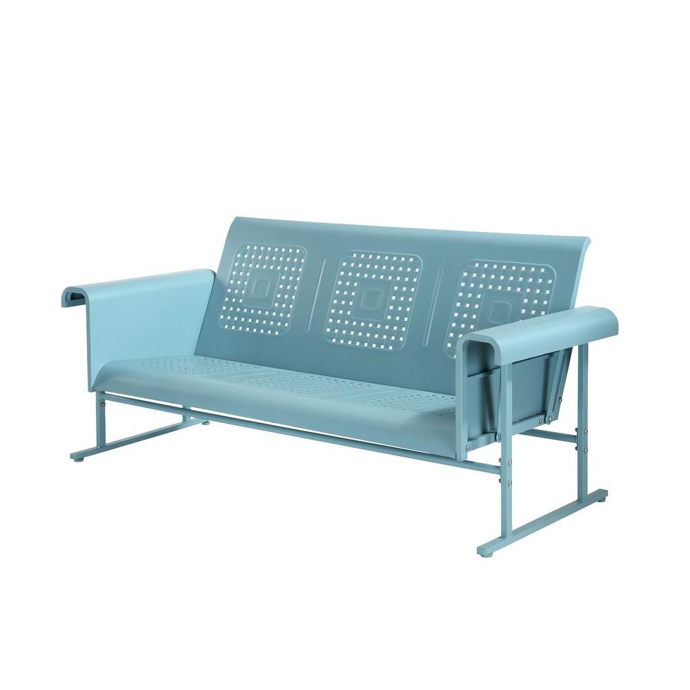 Patio, Lawn & Garden Crosley Furniture Loveseat Glider In Inside Preferred Steel Patio Swing Glider Benches (Gallery 22 of 25)
