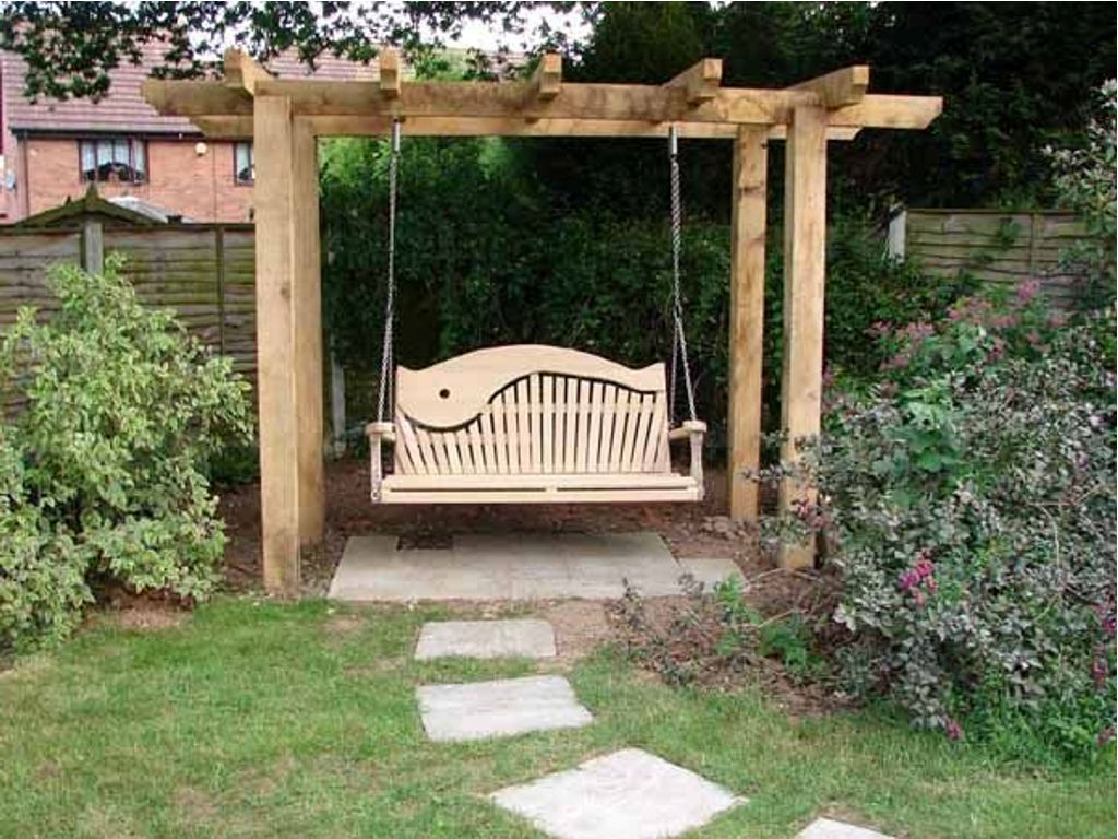 Pergola Porch Swings With Stand Throughout Preferred Standing Porch Swing Frame Outdoor Pergola Stands Home (Gallery 17 of 25)