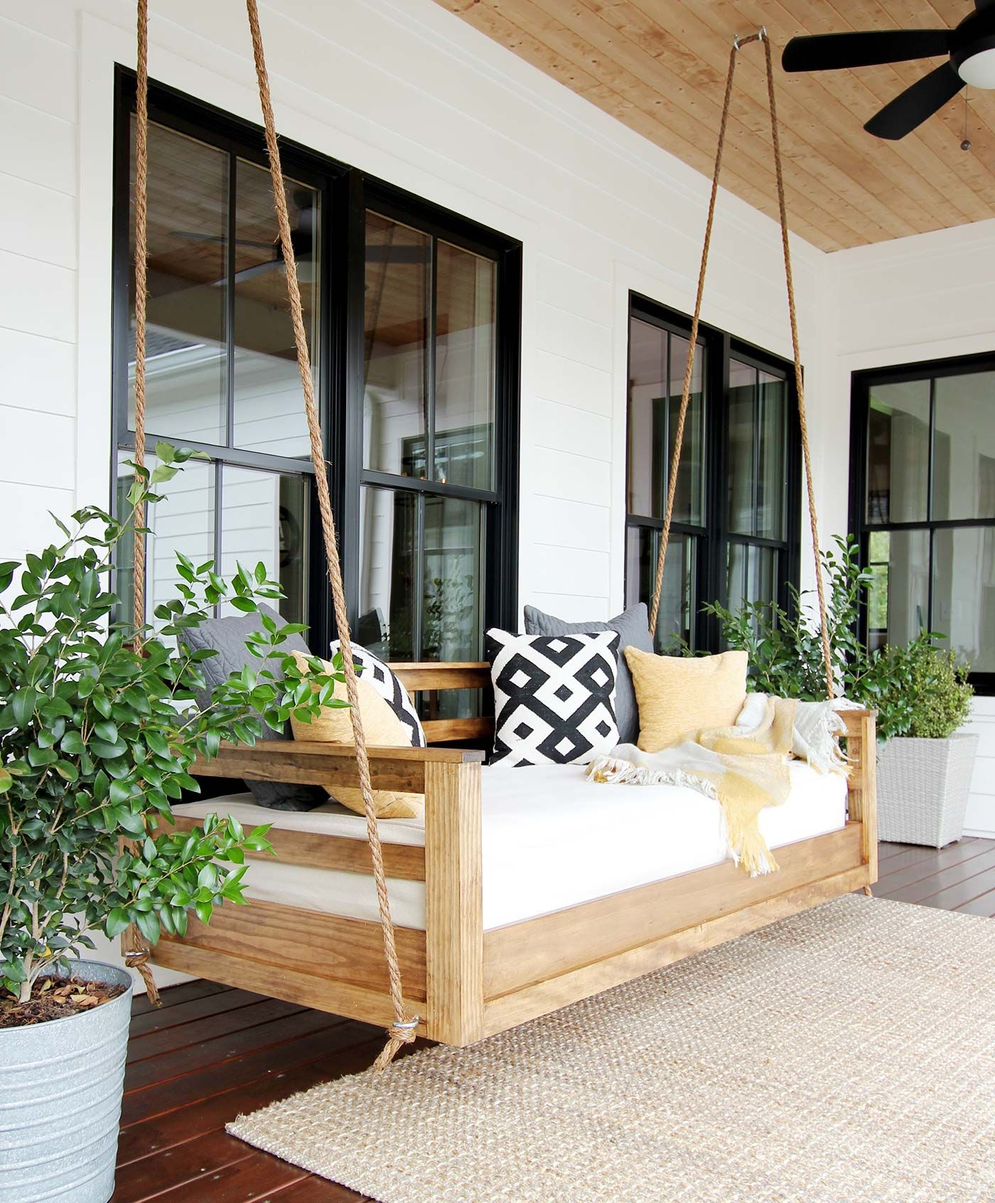 Popular 20+ Porch Swing Plans – Diy Porch Swing In Patio Hanging Porch Swings (View 4 of 25)