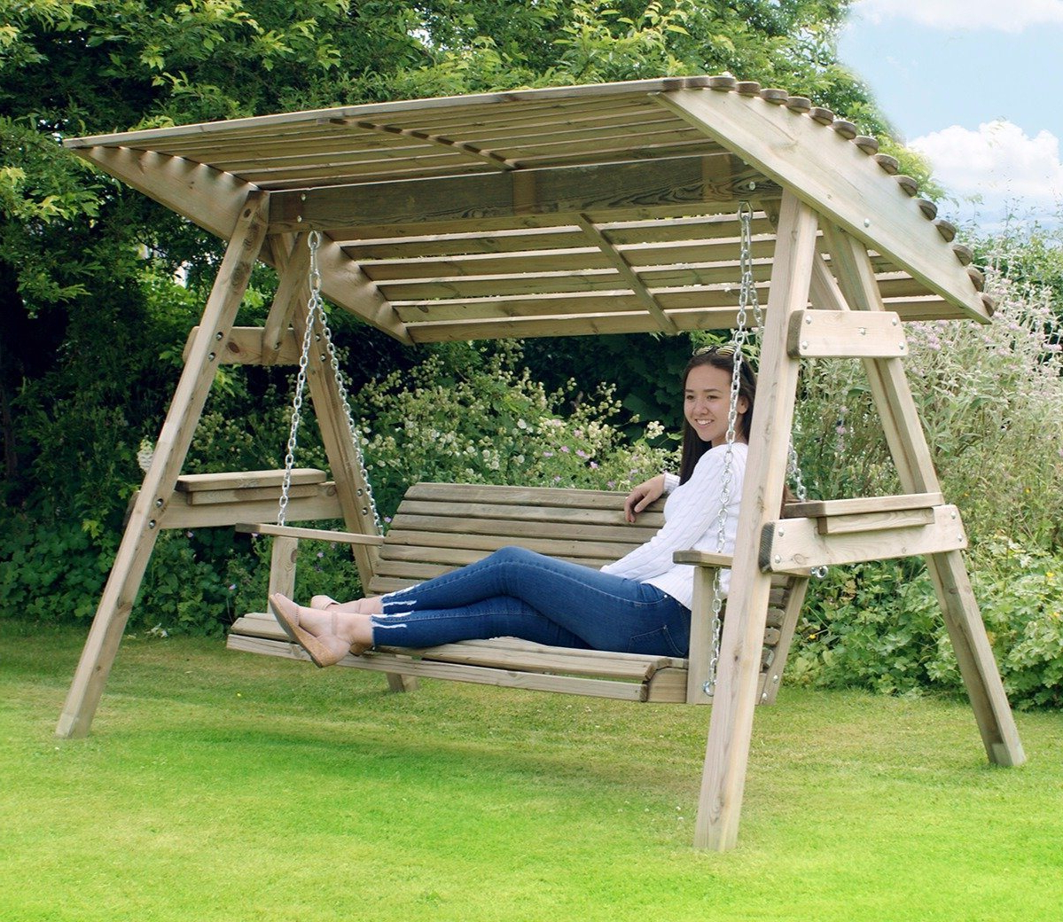 Popular 3 Seat Pergola Swings Regarding Zest Miami 3 Seater Swing Seat (Gallery 20 of 25)