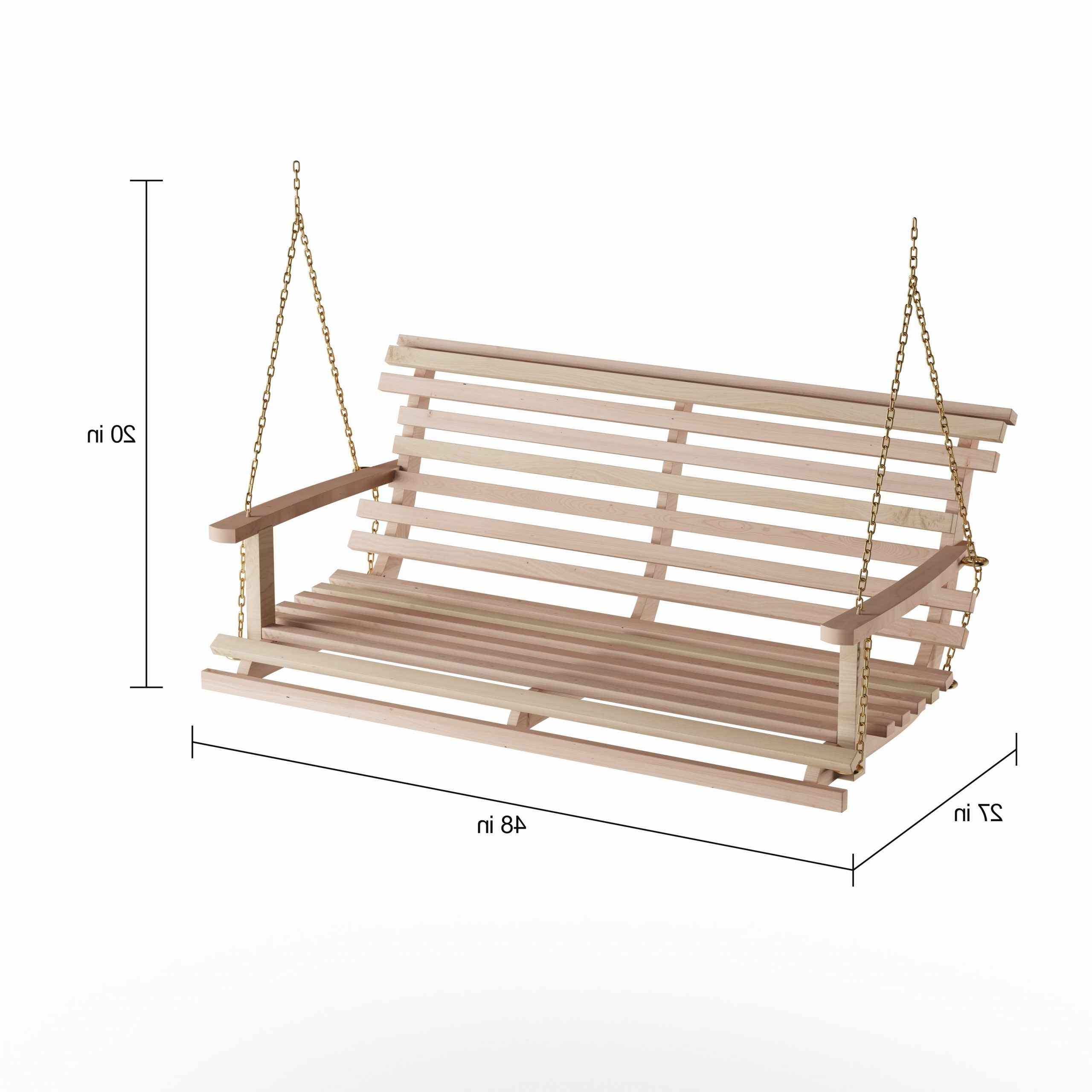 Popular Havenside Home Goodwin Acasia Wood Bench Swing With Chain Intended For Porch Swings With Chain (Gallery 7 of 26)