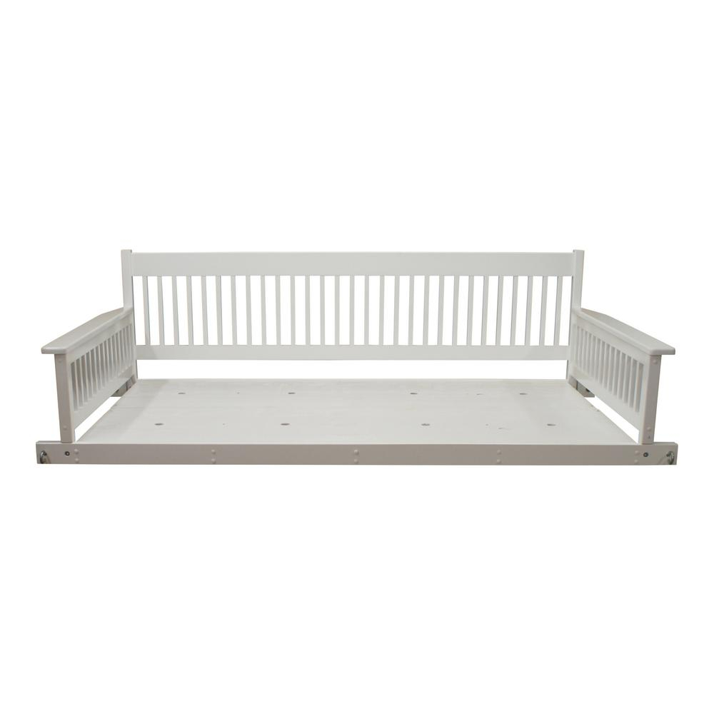 Popular Hinkle Chair Company Plantation 2 Person Daybed White Wooden Pertaining To 2 Person White Wood Outdoor Swings (View 2 of 25)