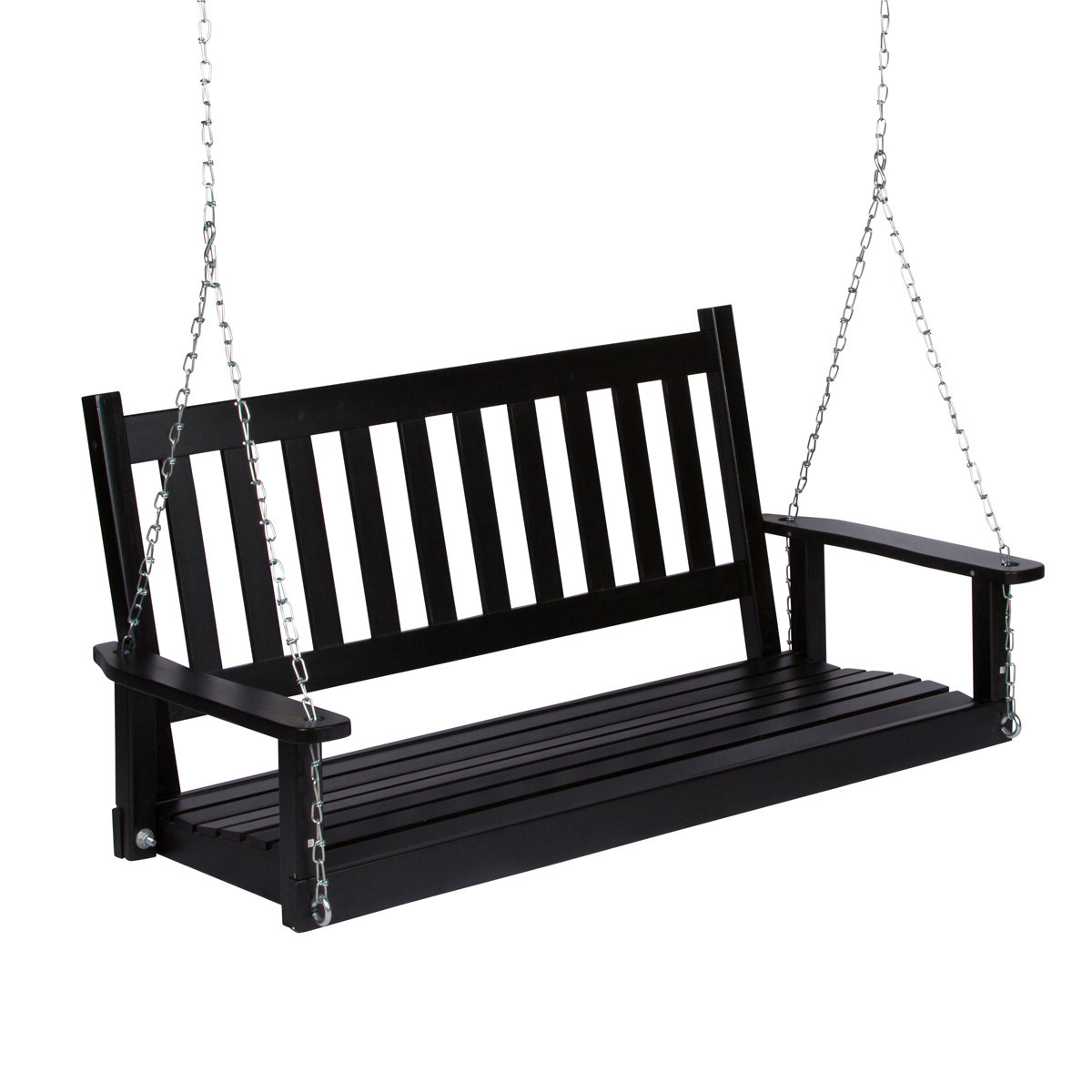 Popular Millwood Pines Lindo Porch Swing Throughout 2 Person Light Teak Oil Wood Outdoor Swings (Gallery 23 of 25)