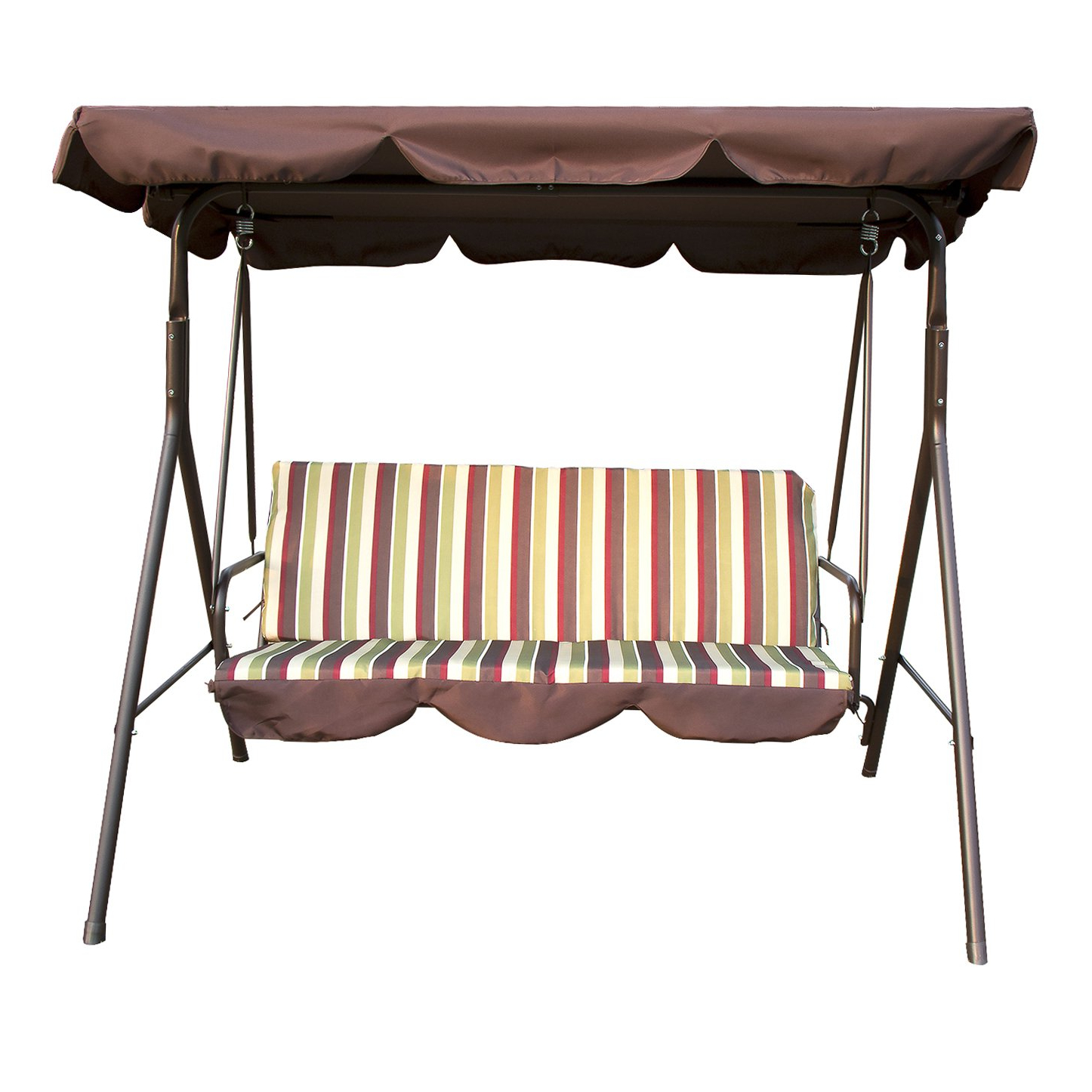 Popular Outdoor Swing Glider Chairs With Powder Coated Steel Frame Regarding Top 10 Best Porch Swings With Stands In 2019 – Brain And Mouth (Gallery 18 of 25)