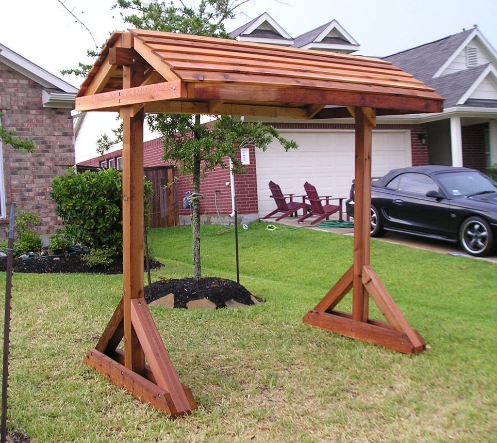 Porch Swing Frame, Free Standing Pergola (Gallery 9 of 25)