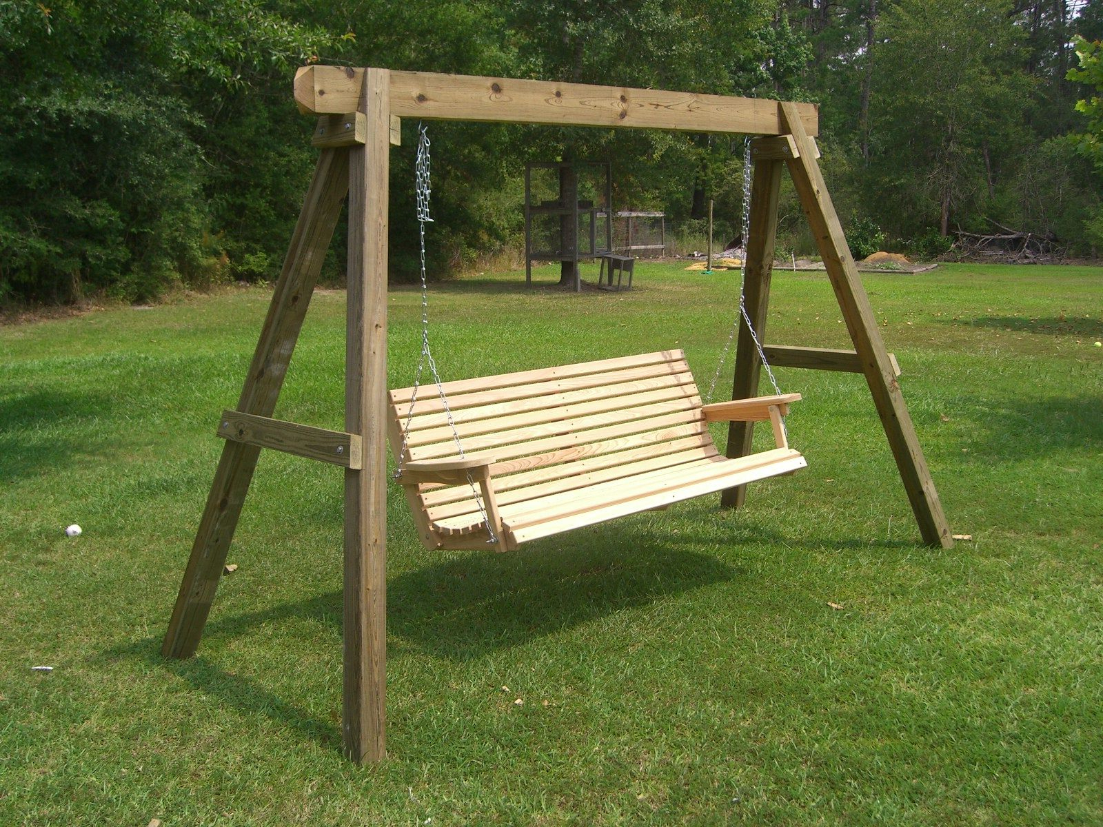 Porch Swing Frame, Porch Swing Throughout Recent Porch Swings With Stand (View 21 of 25)