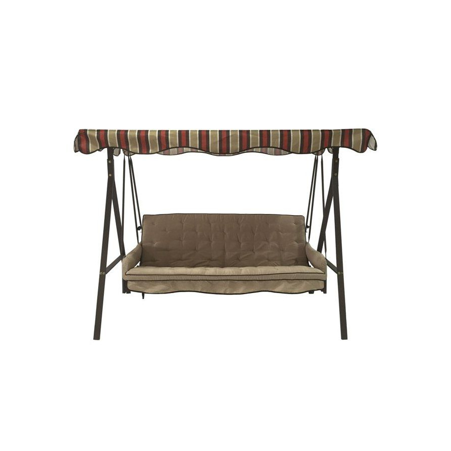 Porch Swing Regarding 2 Person Hammered Bronze Iron Outdoor Swings (View 24 of 25)