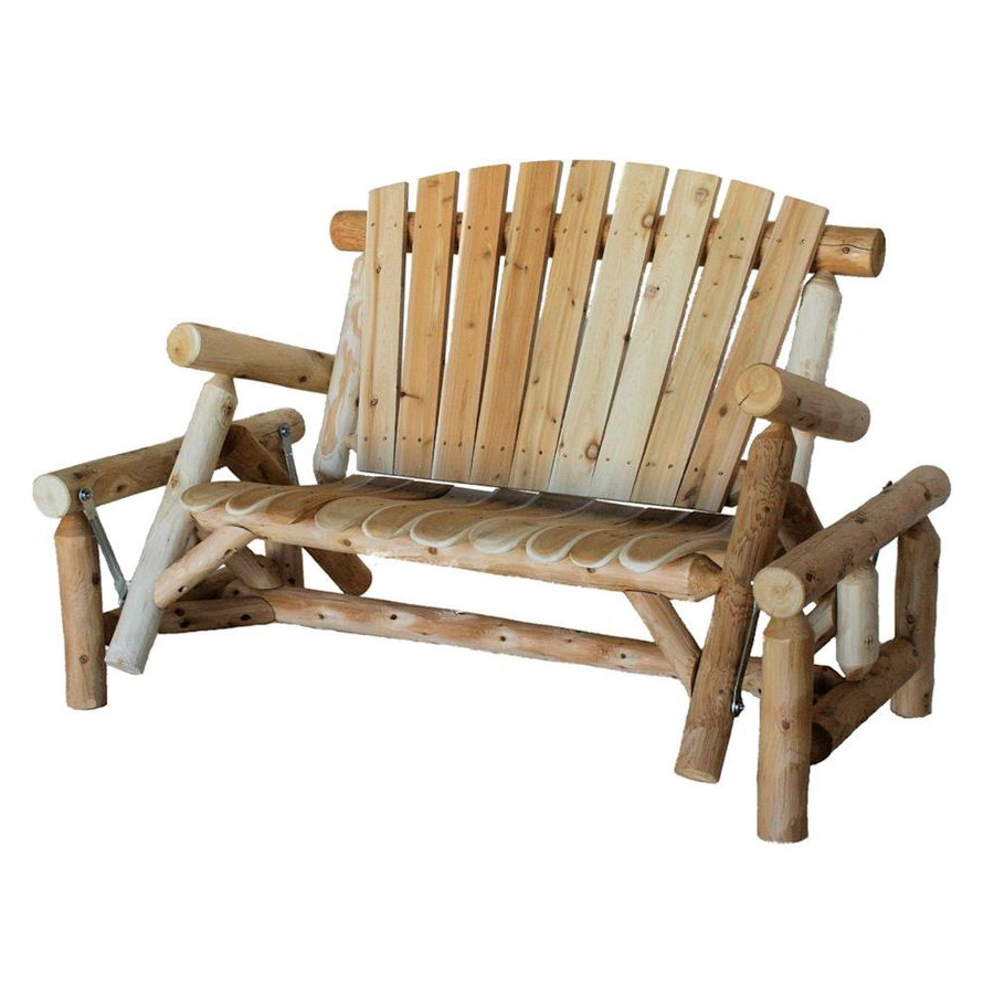 Porch Swings & Gliders At Lowes Regarding 2019 2 Person Natural Cedar Wood Outdoor Swings (View 25 of 25)