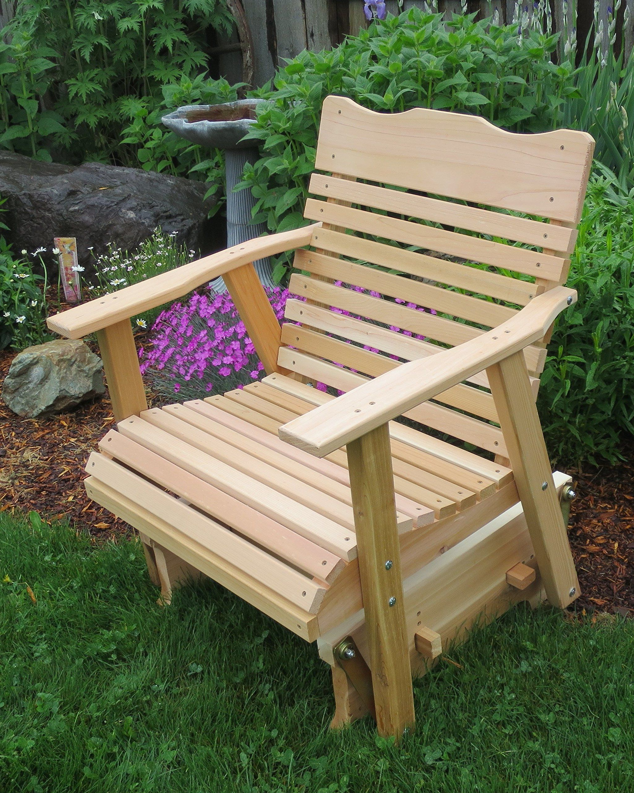 Preferred 2 Person Natural Cedar Wood Outdoor Gliders Inside 2 Natural Cedar Porch Glider Amish Crafted ** Be Sure To (Gallery 1 of 25)