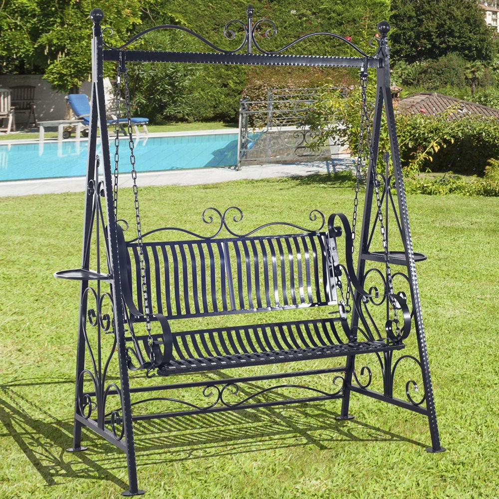 Preferred 5 Foot Black Wrought Iron Porch Swings With Stand – Buy Black Wrought Iron  Porch Swings,5 Foot Wrought Iron Swings,wrought Iron Swing With Stand With Porch Swings With Stand (Gallery 20 of 25)