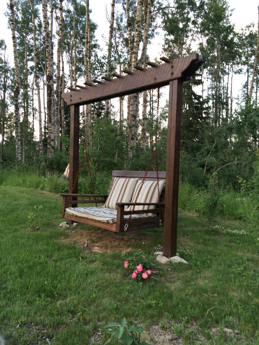 Featured Photo of A4-ft Cedar Pergola Swings