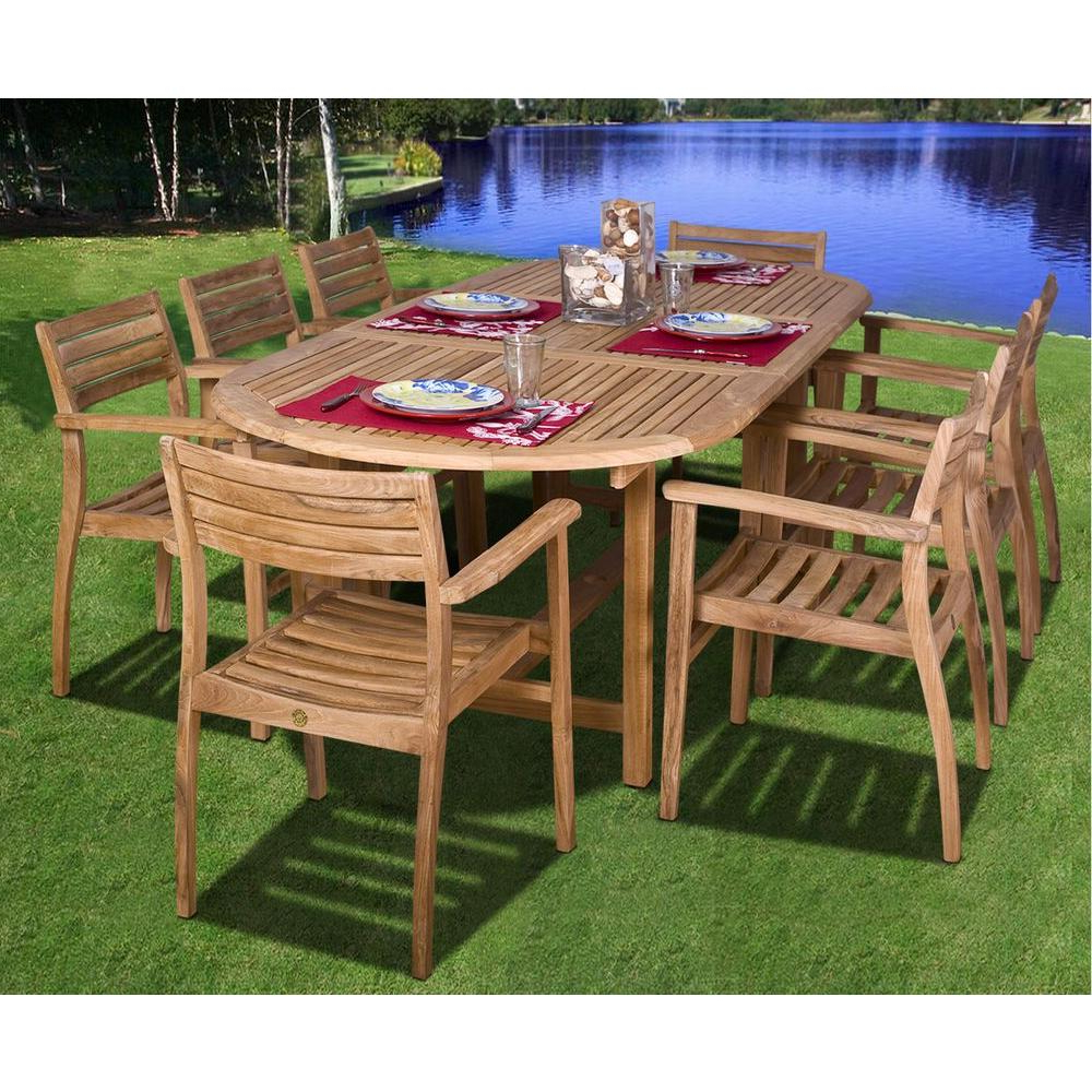 Preferred Patio Rectangular Dining Table Teak Ia Coventry Piece Set Sc Throughout Teak Outdoor Glider Benches (View 25 of 25)