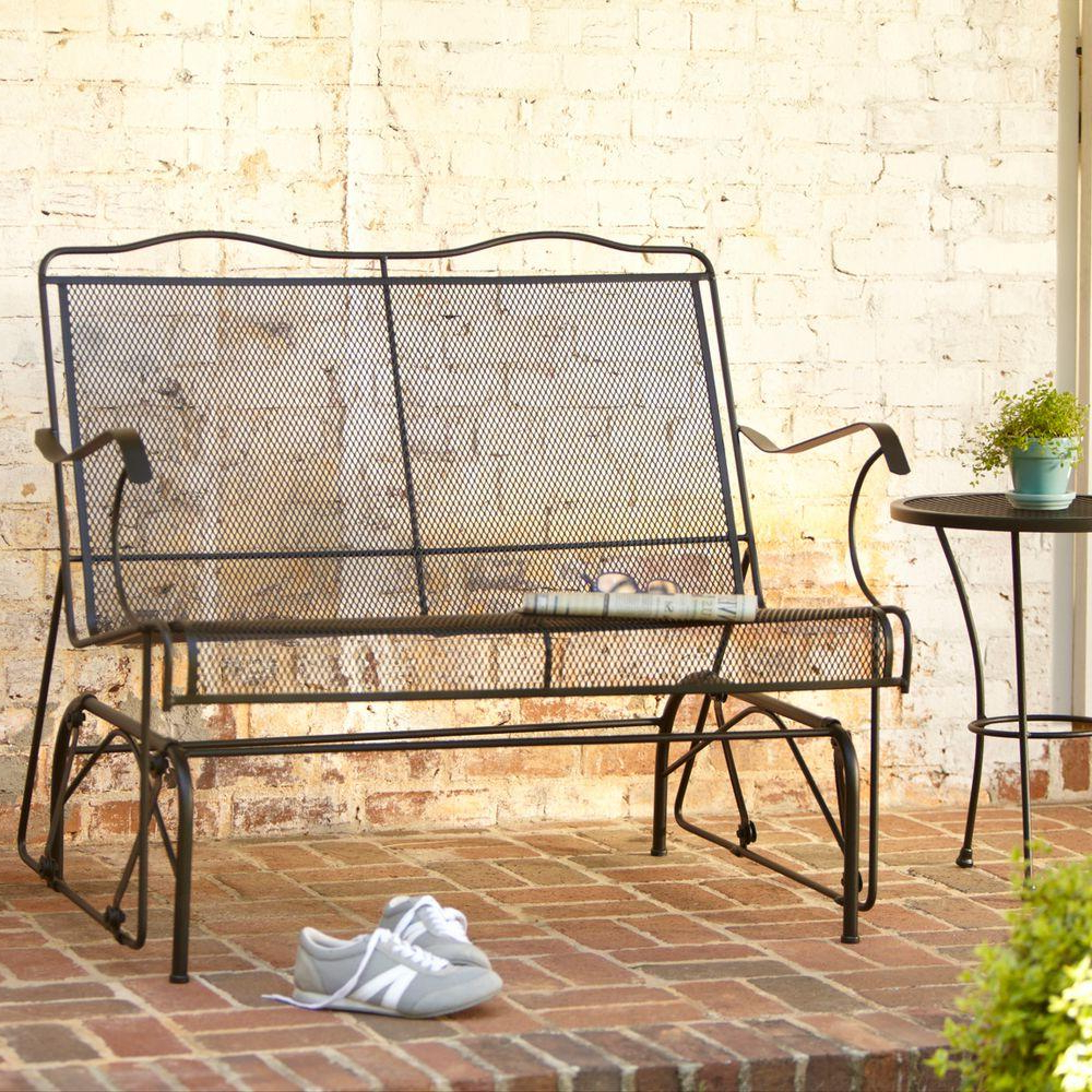 Preferred Rocking Love Seats Glider Swing Benches With Sturdy Frame With Hampton Bay Jackson Patio Loveseat Glider (View 15 of 25)