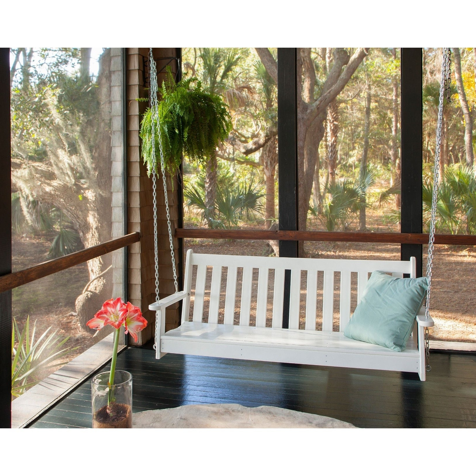 """Preferred Vineyard Porch Swings Pertaining To Polywood® Vineyard 60"""" Outdoor Swing (View 18 of 25)"""