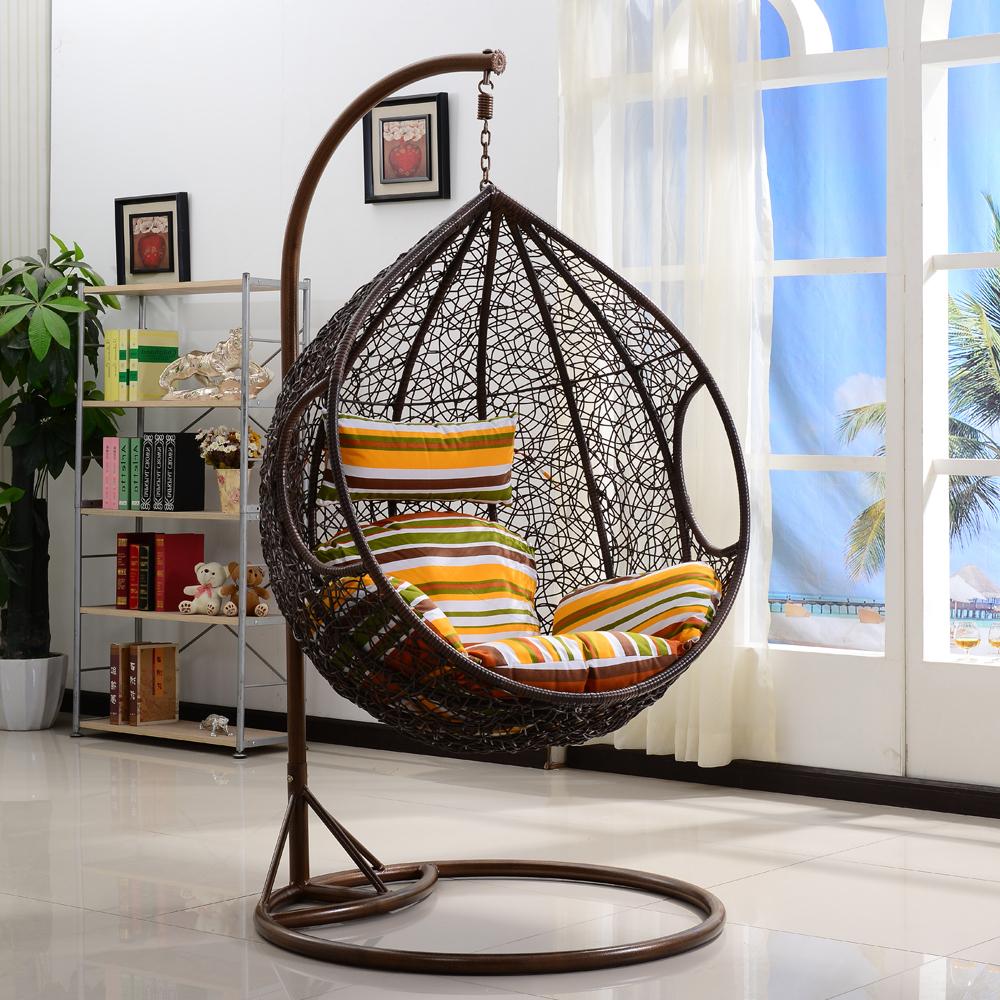 Rattan Wicker Swing Chair (View 25 of 25)