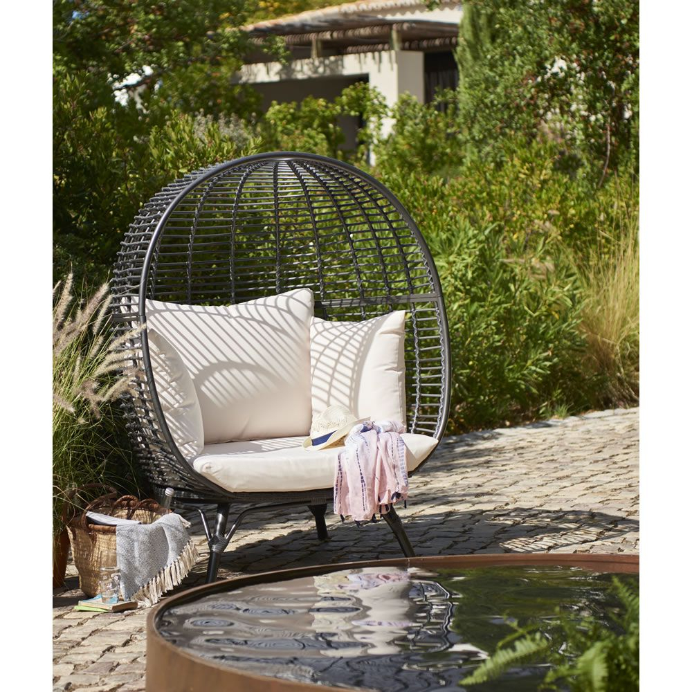 Recent Garden Snuggle Egg Chair Rattan Effect (Gallery 13 of 25)