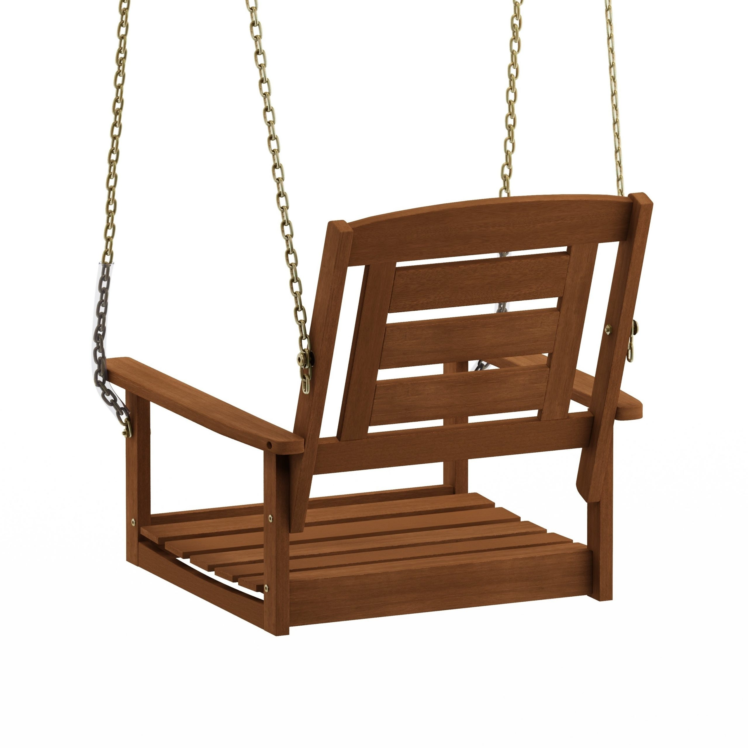 Recent Havenside Home Ormond Hardwood Single Hanging Porch Swing With Chain Intended For Porch Swings With Chain (Gallery 2 of 26)