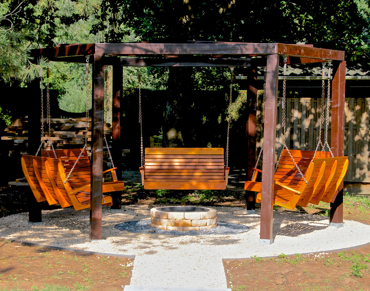 Red Cedar Royal Highback Porch Swing For Most Popular Pergola Porch Swings With Stand (View 25 of 25)