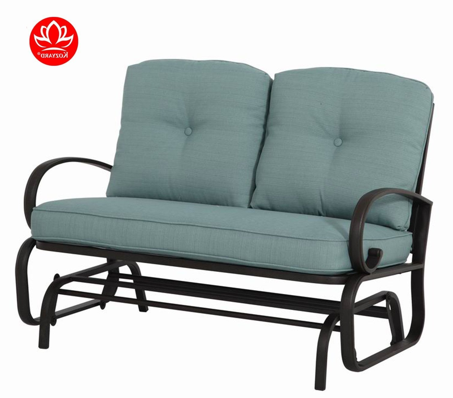 Rocking Love Seats Glider Swing Benches With Sturdy Frame For 2019 Kozyard Cozy Two Rocking Love Seats Glider Swing Bench (View 2 of 25)