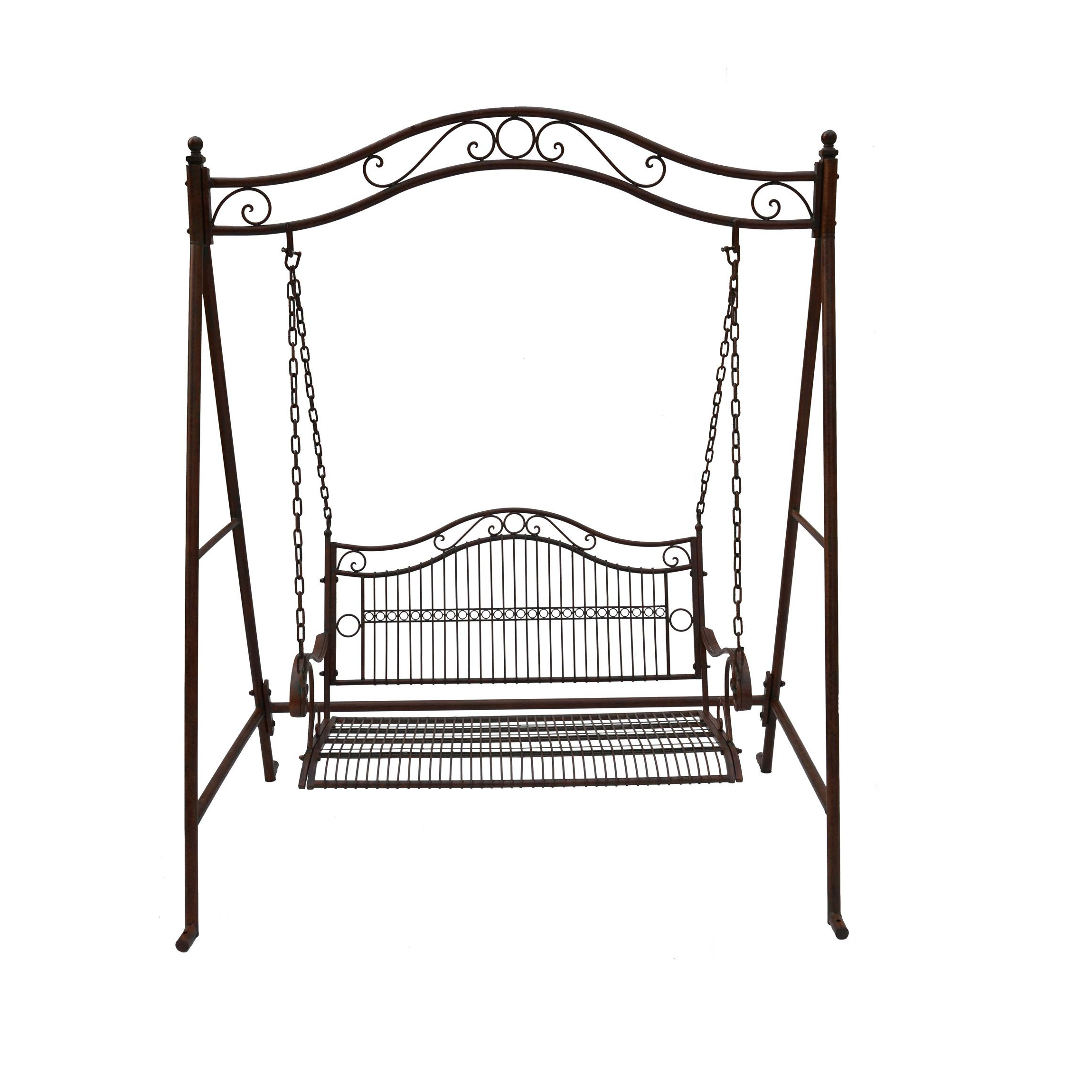Rustic Irons, Swing Seat Regarding Most Up To Date 2 Person Antique Black Iron Outdoor Swings (View 5 of 25)