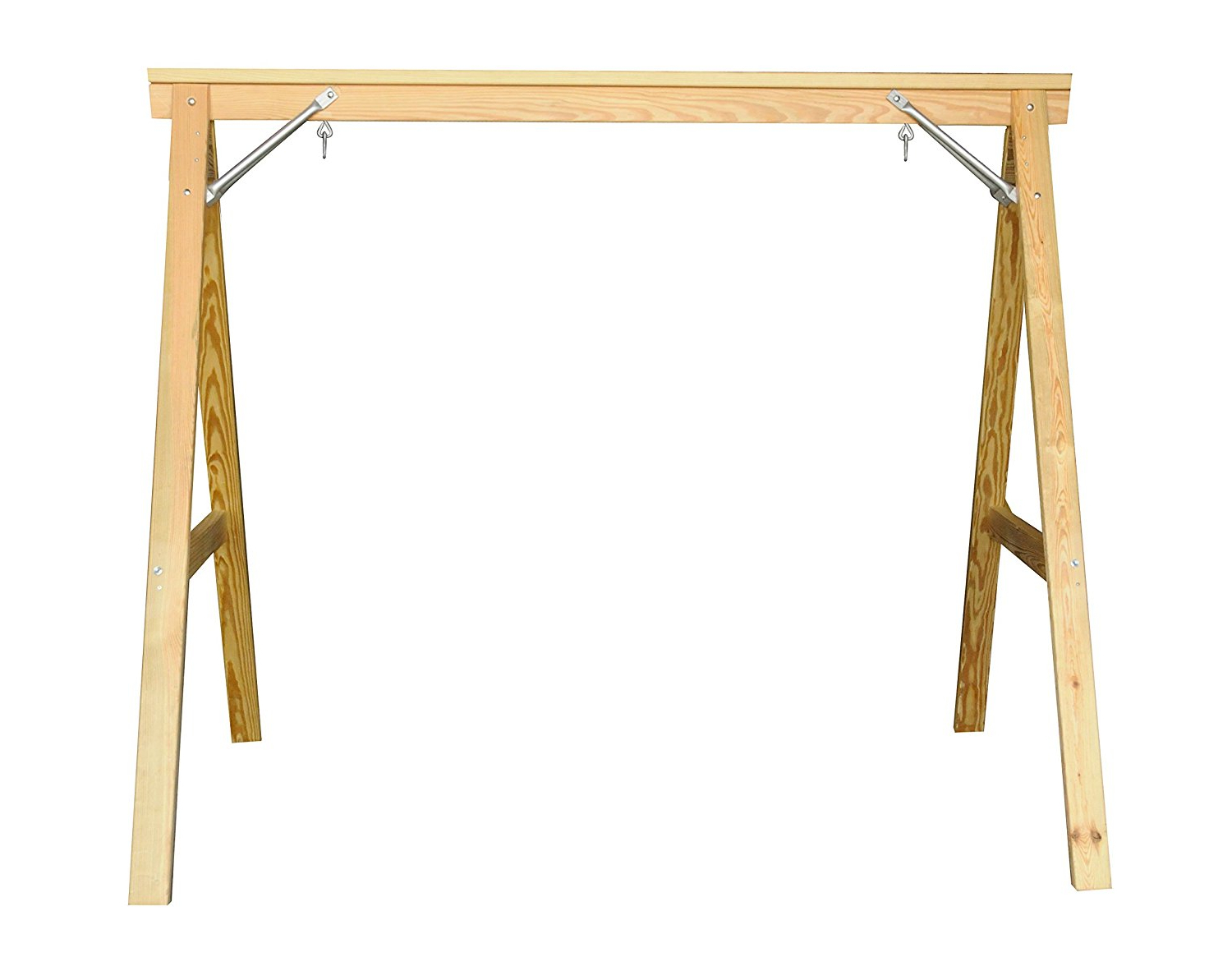Scandinavian Style Wood Porch Swing Stand For 4ft Swings For Well Known Hardwood Hanging Porch Swings With Stand (View 23 of 25)