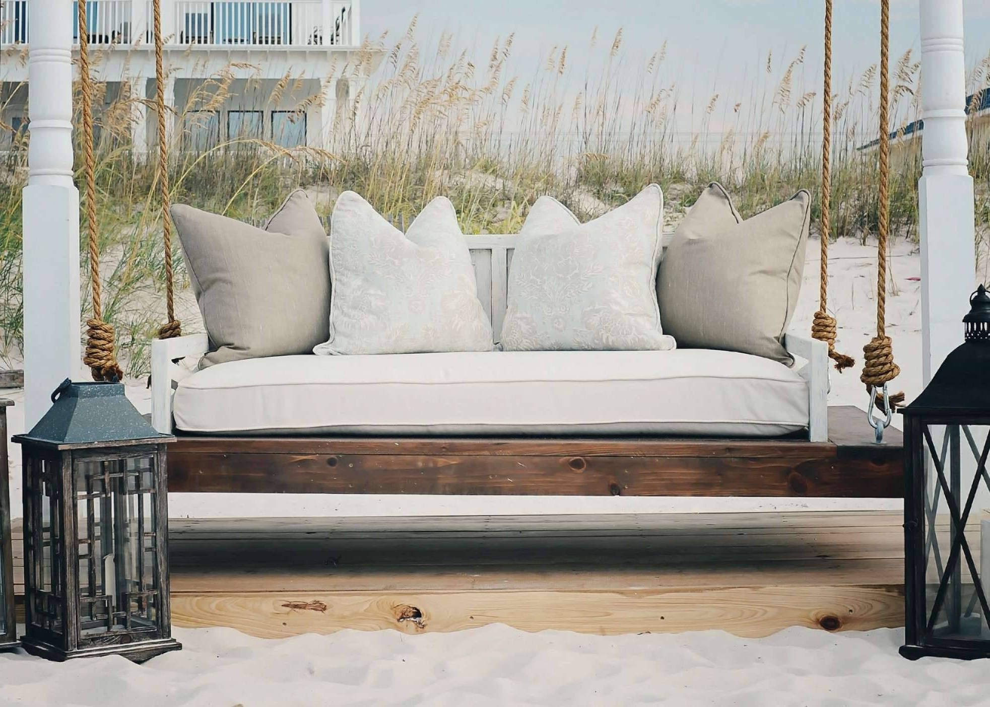 Scenic Swinging Porch Bed Swing Woodworking Plans Large Inside Favorite Day Bed Porch Swings (View 20 of 25)
