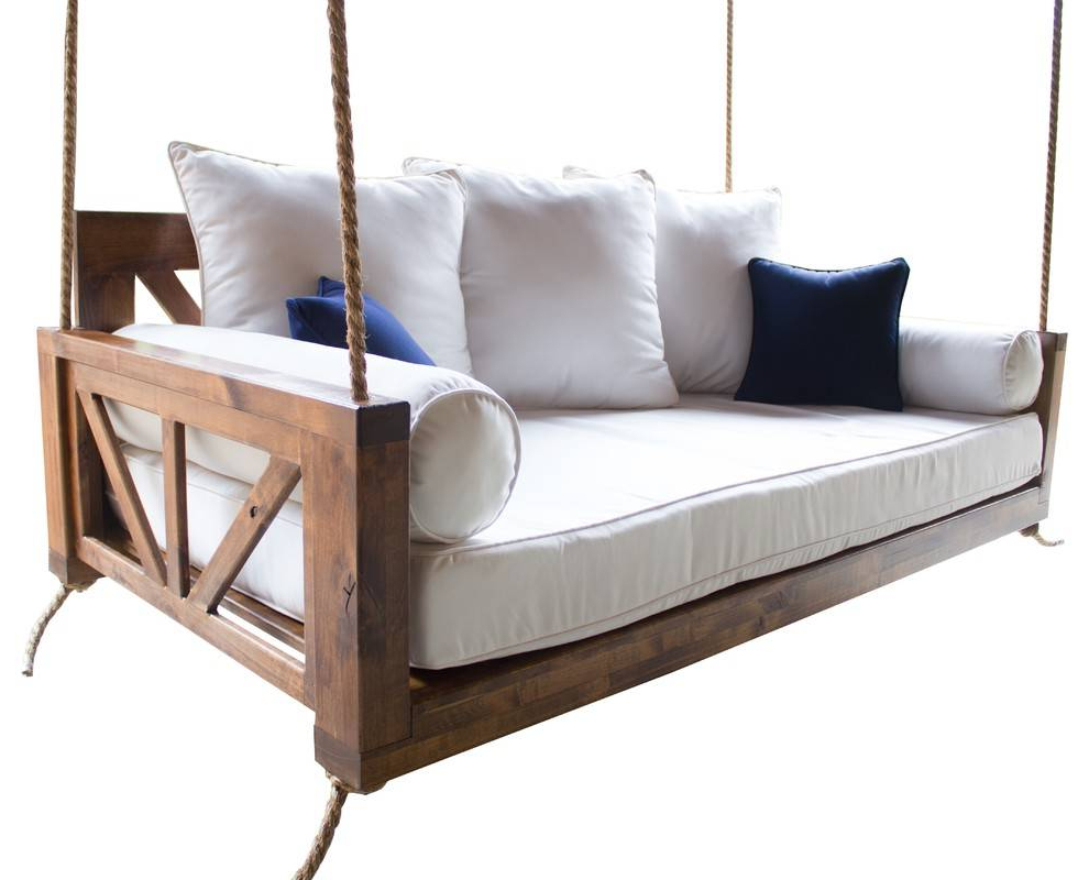 Scenic Swinging Porch Bed Swing Woodworking Plans Large Within Current Day Bed Porch Swings (View 21 of 25)