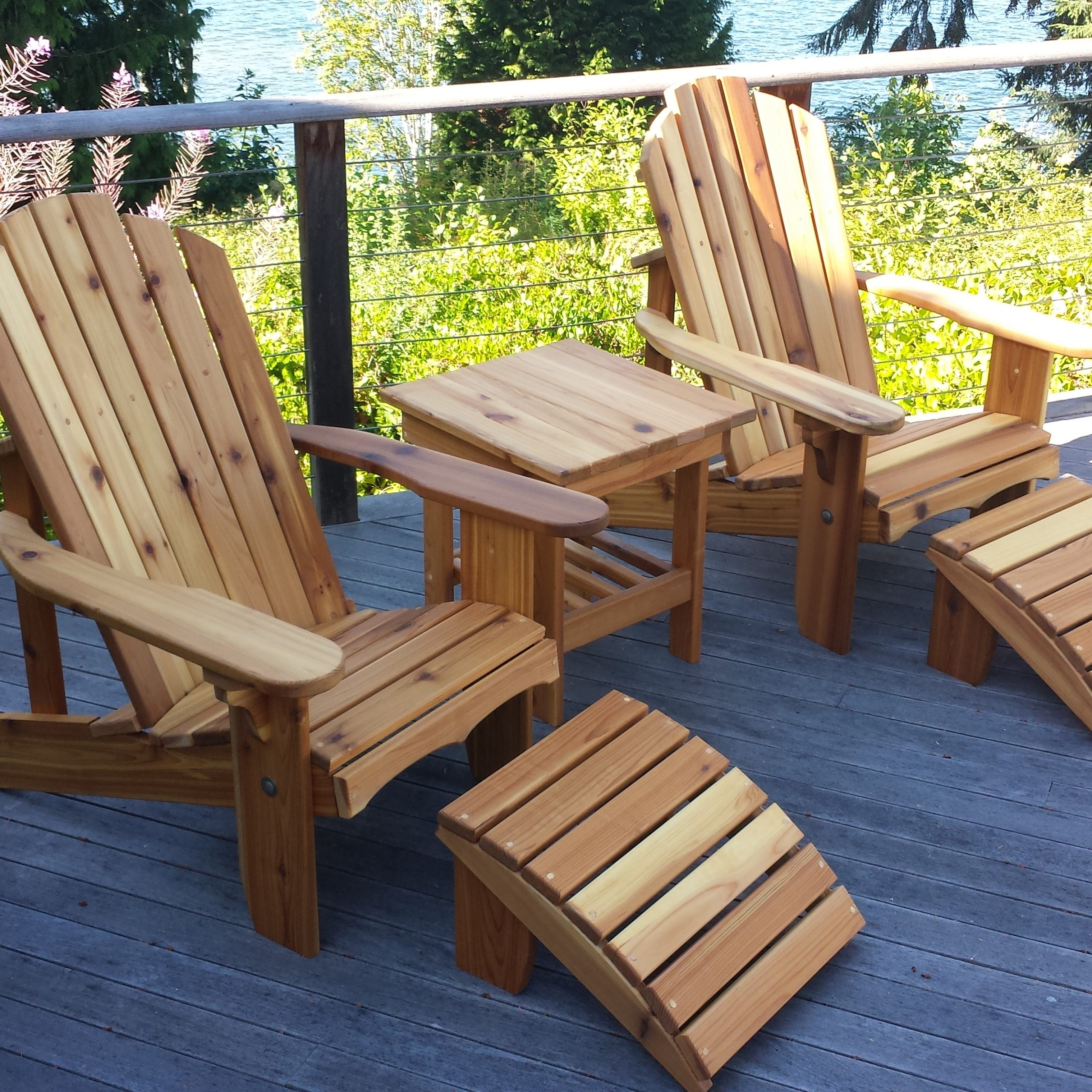 Seattle Adirondack Chairs And Cedar Outdoor Furniture In Famous 2 Person Natural Cedar Wood Outdoor Gliders (View 22 of 25)