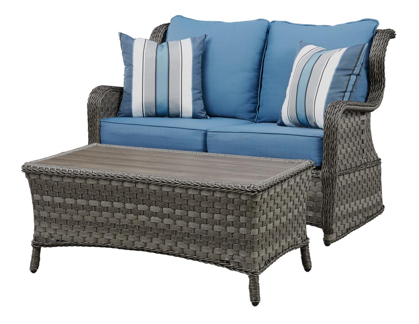 Signature Designashley P360035 Within Most Up To Date Outdoor Loveseat Gliders With Cushion (View 19 of 25)