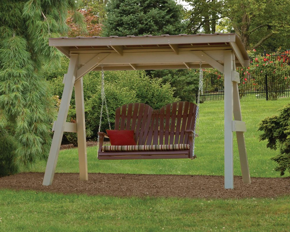 Swing A Frame & Roof – Green Acres Outdoor Living Inside Famous Pergola Porch Swings With Stand (View 13 of 25)