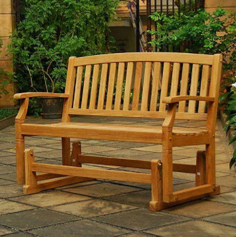 Teak Outdoor Glider Benches For Most Current Teak Meditation Bench Wood Park Garden Glider For Patio (View 22 of 25)