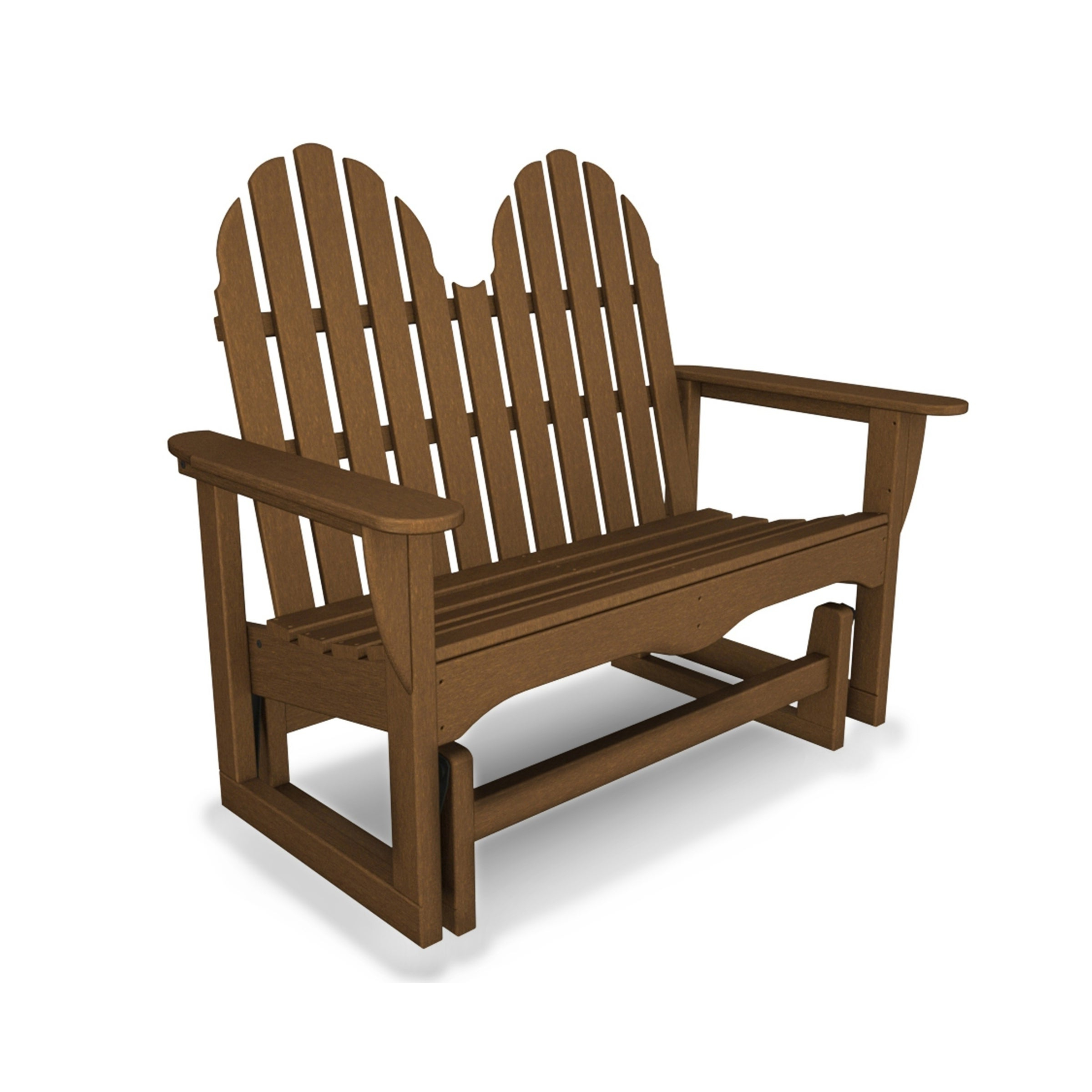 "Teak Outdoor Glider Benches With Regard To Most Up To Date Polywood® Classic Adirondack 48"" Outdoor Glider Bench (View 17 of 25)"
