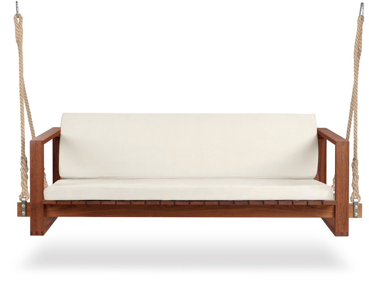 Teak Porch Swings For Latest Bk13 Swing Sofa – Hivemodern (View 25 of 25)